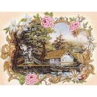 Набор для вышивания Золотое руно РТ-123 «Домик в лесу» 20*15,5 см
