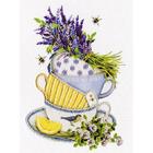 Набор для вышивания Золотое руно РТ-154 «Лавандовый чай» 20*16 см