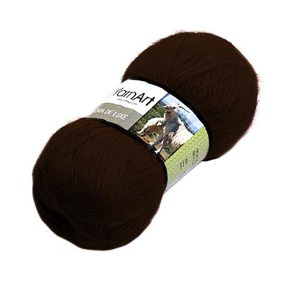 Пряжа Ангора де люкс (Angora De Luxe), 100 г/ 520 м, 03067 коричневый в интернет-магазине Швейпрофи.рф