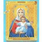Набор для вышивания Искусница №442 «Икона Пр. Богородицы Леушинская» 12*17 см