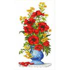 Набор для вышивания Каролинка КТКН-129(р) Маки в вазе 37*64 см