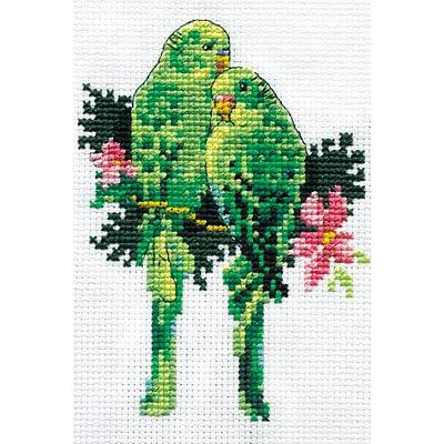 Набор для вышивания Кларт 0-019 «Попугайчики» в интернет-магазине Швейпрофи.рф