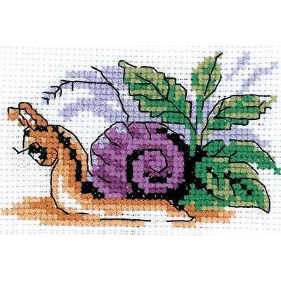 Набор для вышивания Кларт 6-084 «Весёлая улитка» 9*7 см в интернет-магазине Швейпрофи.рф