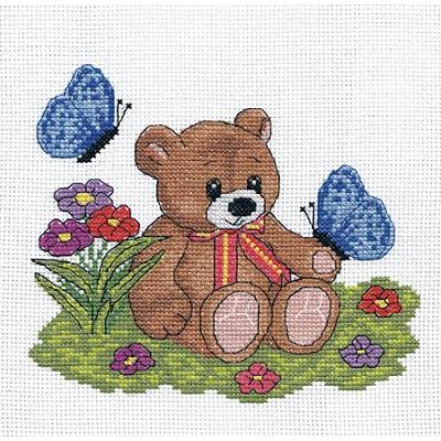 Набор для вышивания Кларт 8-046 «Плюшевый медвежонок» 17*15 см в интернет-магазине Швейпрофи.рф