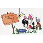 Набор для вышивания Кларт 8-092 «Осторожно, злая собака!» 25*17 см