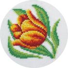 Набор для вышивания бисером Кларт 8-171 (Б) «Тюльпан» (см. к27385) 12*12 см