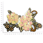 Аппликация пришивная YAN-1 «Цветок» с пайетками(7Б)