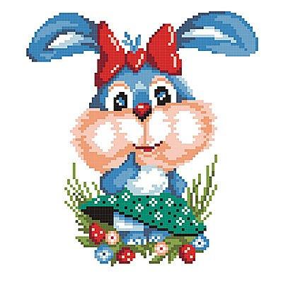 Набор для вышивания М.П.Студия КH-376 «Зайка» 21*30 см в интернет-магазине Швейпрофи.рф