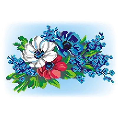 Набор для вышивания М.П.Студия КH-406 «Букет в три цвета» 23*15 см в интернет-магазине Швейпрофи.рф