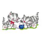 Набор для вышивания М.П.Студия КH-410 «Два котенка с клубком» 30*21 см