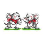 Набор для вышивания М.П.Студия КH-411 «Мышата» 13*24 см