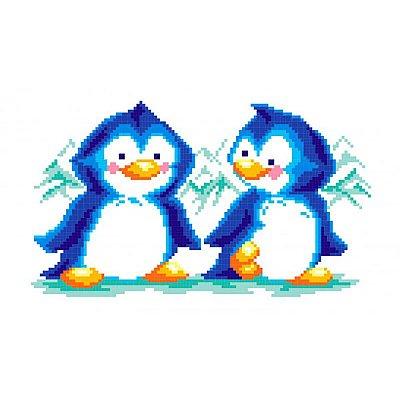 Набор для вышивания М.П.Студия КH-412 «Пингвины» 30*21 см в интернет-магазине Швейпрофи.рф