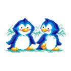 Набор для вышивания М.П.Студия КH-412 «Пингвины» 30*21 см