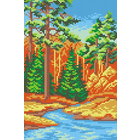 Набор для вышивания М.П.Студия КH-417 «Осенний лес» 21*30/14*21 см