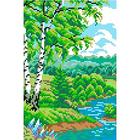 Набор для вышивания М.П.Студия КH-418 «Быстрая  река» 14*21 см