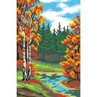 Набор для вышивания М.П.Студия КH-420 «Лесная  речка» 14*21 см