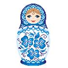 Набор для вышивания М.П.Студия КH-454 «Матрешка. Гжельская роспись» 16*25 см