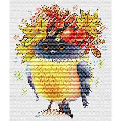Набор для вышивания М.П.Студия М-236 «Осенняя пташка» 17*14 см в интернет-магазине Швейпрофи.рф