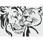 Набор для вышивания М.П.Студия НВ-123 «Лев и львица» (снят) 30*45 см