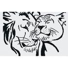 Набор для вышивания М.П.Студия НВ-123 Б «Лев и львица» (снят) 30*45 см