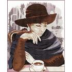 Набор для вышивания М.П.Студия НВ-200 «Девушка в кафе» (снят) 28*35 см