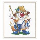 Набор для вышивания М.П.Студия НВ-214 «Кот-рыбак» 14*18 см