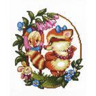 Набор для вышивания М.П.Студия НВ-217 «Енотик у зеркала» 20*25 см