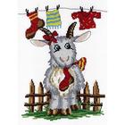 Набор для вышивания М.П.Студия НВ-269 «Коза с носком» 26*20 см