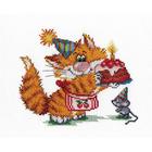 Набор для вышивания М.П.Студия НВ-352 «Рыжий кот. День рождения» 20*15 см