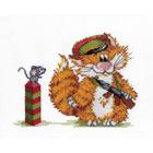 Набор для вышивания М.П.Студия НВ-354 «Рыжий кот. Пограничник» 20*15 см