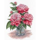 Набор для вышивания М.П.Студия НВ-543 «Любимец королей (пионы)» 20*30 см