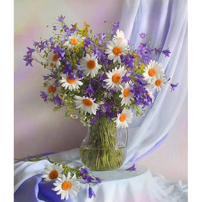 Набор для вышивания Матренин Посад 7016 «Сиреневое утро» (ленты,мулине) 28*34 см в интернет-магазине Швейпрофи.рф
