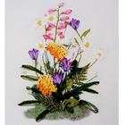 Набор для вышивания Матренин Посад 7026 «Цветы полевые» (ленты,бисер) 15*17 см