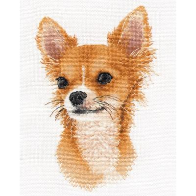 Набор для вышивания Овен №1001 «Маленький друг Чихуахуа» 15*23 см в интернет-магазине Швейпрофи.рф
