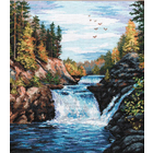 Набор для вышивания Овен №560 «Водопад Кивач» 29*35 см