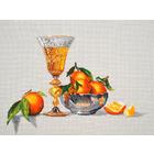 Набор для вышивания Овен №792 «Мандарины и шампанское» 37*27 см