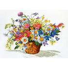 Набор для вышивания Овен №862 «Луговые цветы» 40*31 см