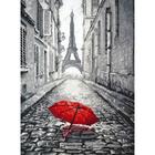 Набор для вышивания Овен №868  «В Париже дождь» 20*29 см