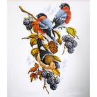 Набор для вышивания Овен №901 «Снегири на ежевике» 22*33 см