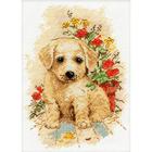 Набор для вышивания Овен №998 «Мой щенок» 13*19 см