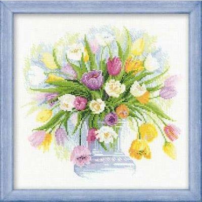 Набор для вышивания Риолис №100/008 «Акварельные тюльпаны» в интернет-магазине Швейпрофи.рф
