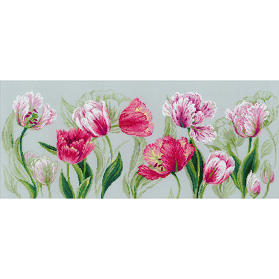 Набор для вышивания Риолис №100/052 «Весение тюльпаны» 70*30 см в интернет-магазине Швейпрофи.рф