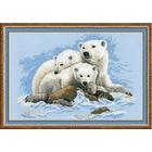 Набор для вышивания Риолис №1033 «Белые медведи» 60*40 см