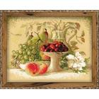 Набор для вышивания Риолис №1085 «Натюрморт с черешней» 30*24 см