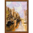Набор для вышивания Риолис №1190 «Амстердам. Канал Аудезейтс Форбургвал» 40*60 см