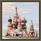 Набор для вышивания Риолис №1260 «Москва. Собор Василия Блаженного» 40*40 см