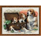 Набор для вышивания Риолис №1328 «Собачье семейство» 40*30 см