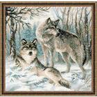 Набор для вышивания Риолис №1393 «Волчья пара» 40*40 см