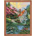Набор для вышивания Риолис №1394 «Водяная мельница» 30*40 см
