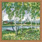 Набор для вышивания Риолис №1436 «Березовая роща» 40*40 см